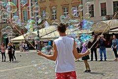 Vendeur de bulle de savon Image libre de droits