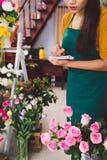 Vendeur de fleur Photo stock