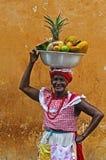 Vendeur de fruit de Palenquera Image stock