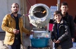 Vendeur de graine en Irak Images stock