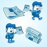 Vendeur de journaux Photo stock