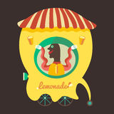 Vendeur de limonade illustration stock