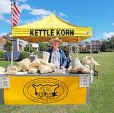 Vendeur de maïs éclaté Photo libre de droits