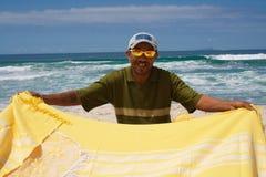 Vendeur de plage au Brésil Photographie stock libre de droits