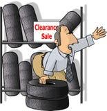 Vendeur de pneu Photo stock
