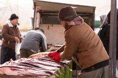 Vendeur de poissons en Irak Photo libre de droits