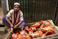 vendeur de poterie Image stock