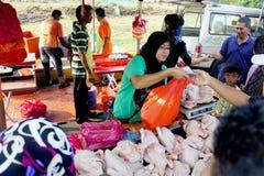 Vendeur de poulet Photographie stock libre de droits