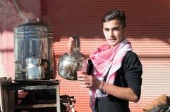 Vendeur de thé en Irak Photos stock