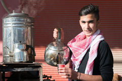 Vendeur de thé en Irak Photo stock