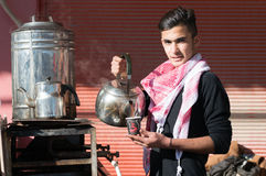 Vendeur de thé en Irak Photo libre de droits