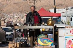 Vendeur de thé en Irak Photographie stock libre de droits