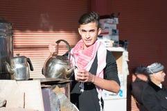 Vendeur de thé en Irak Image libre de droits