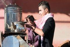 Vendeur de thé en Irak Photographie stock