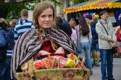 Vendeur des bonbons Photos stock
