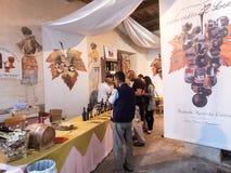 Vendeur des vins italiens Images libres de droits