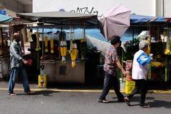 Vendeur indien de fleur à la rue de Petaling Image stock