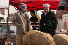 Vendeur irakien de moutons Images stock