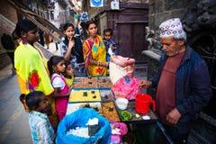 vendeur Katmandou Népal images libres de droits