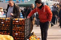Vendeur orange en Irak Images libres de droits