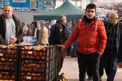 Vendeur orange en Irak Photos libres de droits