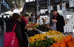 Vendeur oriental du marché de Detroit Image libre de droits