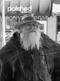 Vendeur plus âgé au marché de ville de Roanoke, Roanoke, la Virginie, Etats-Unis Image libre de droits