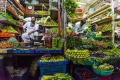 Vendeur végétal dans l'Inde de Mumbai Photographie stock libre de droits