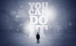 Vendeur vous pouvez le faire motivation Photographie stock