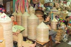 Vendeurs de chapeau Photo stock