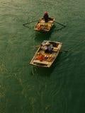 Vendeurs de fruit dans la baie long d'ha Image libre de droits