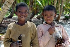 Vendeurs de la vanille, Madagasscar Images stock