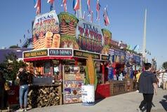 Vendeurs de nourriture à la foire d'état de Texas Dallas photos libres de droits