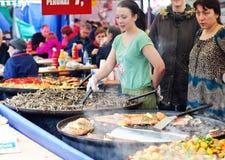Vendeurs de nourriture Images libres de droits
