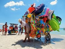 Vendeurs de plage Photos stock