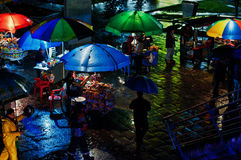 Vendeurs la nuit Photo libre de droits