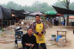 Vendeurs locaux du marché Photographie stock libre de droits