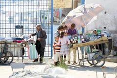 Vendeurs sur la rue Photo stock