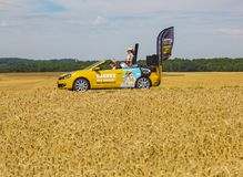 The Car of Century 21 - Tour de France 2017 stock photography