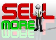 Vendez plus illustration stock