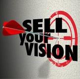 Vendez votre stratégie de plan de présentation de cible de flèche de mots de vision illustration stock