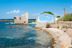 Vendicarinatuurreservaat, Sicilië, Italië Stock Afbeeldingen