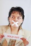 Vendido hacia fuera Imagen de archivo libre de regalías
