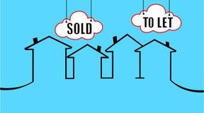 Vendido o dejar su casa Imágenes de archivo libres de regalías