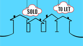 Vendido ou para deixar sua casa Imagens de Stock Royalty Free