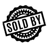 Vendido pelo carimbo de borracha Fotografia de Stock