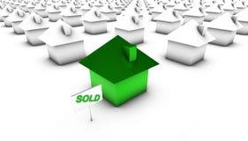 Vendido - verde com branco ilustração stock