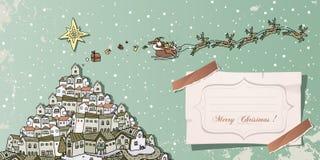 Vendimia de la Navidad libre illustration