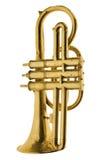 Vendimia de la trompeta del oro Foto de archivo