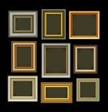 Vendimia de los marcos de la foto stock de ilustración